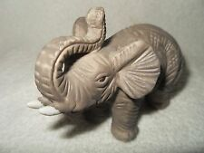 VINTAGE MINIATURE HAND CARVED SAND STONE ELEPHANT IN FINE DETAIL