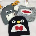 Winter Hat Toboggan - Adult - Choose from Moose, Sock Monkey, Penguin