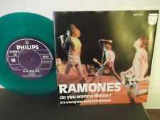 "Ramones,Philips,""Do You Wanna Dance?"",Holland,7"" 45 with P/C,Green Vinyl,rare,M"