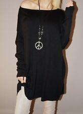 Damen Oversize Baumwoll Shirt Vintage Skull Strass Totenkopf 36 38 40 rosa