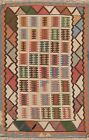Vintage Geometric Kilim Navajo Hand-Woven Reversible Wool Area Rug Oriental 3x5