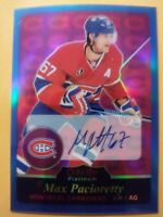 2015 OPC Platinum Blue Rainbow Foil Max Pacioretty Autograph Montreal R47 Vegas