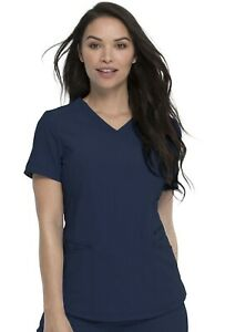 """Dickies Retro  #780 V-Neck Detailed Scrub Top in """"Navy"""" Size XS"""