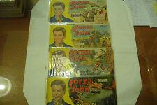 """FORZA JOHN """"Lotto 4 Fumetti STRISCE (23-25-58-88)"""" anni 50/60 SUPPL.INTREPIDO A2"""