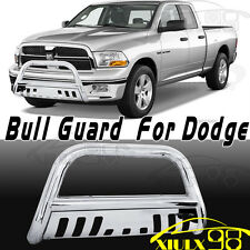 Stainless Chrome Bull Bar Bumper Grill Grille Guard For 09-18 Dodge Ram 1500