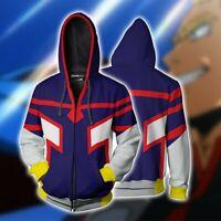 My Hero Academia All Might Cosplay Costume Men's Casual Hoodie Jacket Sweatshirt