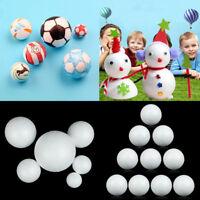 10pcs White Polystyrene Styrofoam Spheres Foam Balls Modelling  DIY Craft Decor
