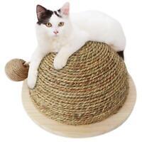 Cat Kitten Pet Claw Scratching Post Scratcher Board Semi-circular Scratch Toy