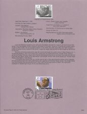US 1995 FDC USPS Souvenir Page Louis Armstrong Jazz Trumpeter and Singer |