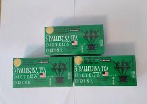 3 Box 3 Ballerina Herbal Tea Dieters' Drink 54 tea bags