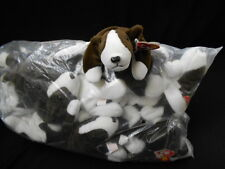 """TY Beanie Babies- WHOLESALE One Dozen (12) """"Bruno"""" the Dog - Retired/New in Bag"""