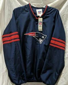 *NEW* W/Tags NFL Patriots Pullover Vneck Windbreaker Size L