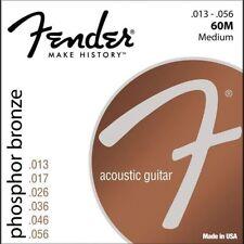 Fender Phosphor Bronze Acoustic Guitar Strings 60M - .013-.056