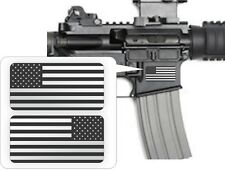 Silver American Flag AR15 Lower Decals | Magazine Stickers Black Ops Mag 5.56