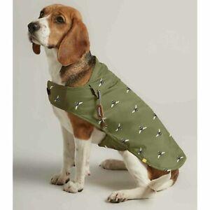 Joules Olive Bee Print Water Resistant Dog Coat Raincoat S/M/L