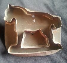 Old Tin Cookie Cutter Rocking Horse Country Primitive