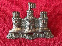 Royal Inniskilling White Metal Pipers Cap Badge British Army Military J3/20