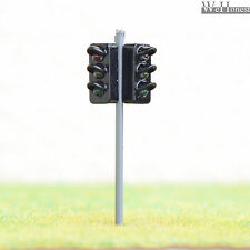 4 x traffic signal light HO OO Scale Model railroad crossing walk led lamp #GR33