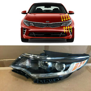 Headlight Replacement for 2016 2017 2018 Kia Optima Halogen w/o LED Left Driver
