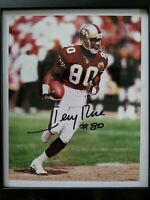 Jerry Rice Autograph Photo 8x10 Signed San Francisco 49ers HOF