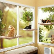 Cat Kitty Basking Window Hammock Perch Cushion Bed Hanging Shelf Mounted PW
