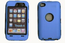 Best Protection Case / Cover for iPOD TOUCH 4 BLUE / BLACK Free Stylus!!!