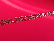 1 metre (1 piece) Antique silver jump ring link chain jewellery making findings