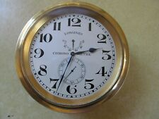 Longines Marine Chronometer Clock In Great Looking / Working Order Free Shiping