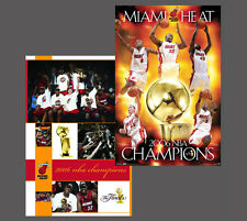 Vintage Original MIAMI HEAT 2006 NBA CHAMPIONS Commemorative POSTER Combo Set (2
