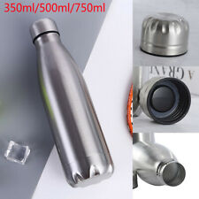 Stainless Steel Water Bottle Insulated Metal Sport & Gym Drinks Flask 500/350ml