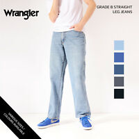 VINTAGE WRANGLER JEANS STRAIGHT LEG DENIM GRADE B W28 W30 W32 W34 W36 W38