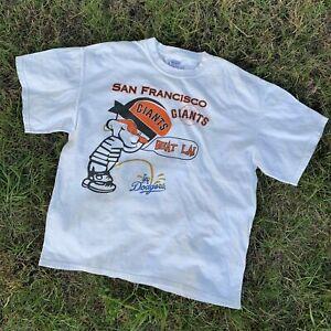 Vintage SF Giants Beat LA T Shirt White Unisex Cotton Reprint TK5132