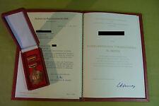 DDR Orden & Urkunde - Vaterländischer Verdienstorden in Bronze - 1979