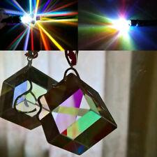 1.5cm Cube Defective Cross Dichroic Prism RGB Combiner Splitter Glass Decor