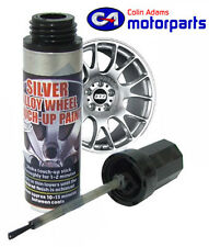 Alloy Wheel Touch Up Paint Metallic Silver 12ml - TUP-06025 Car Motorbike Rim