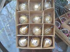 Lot 12 Vtg Christmas Tree Ornaments Mercury Glass Bubble and teardrop