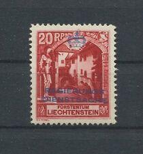 LIECHTENSTEIN DIENST 1932 Nr. 3 B Neugummi Michelwert ** 240.- h1582