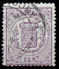 NED NVPH 18D Wapenzegel 2,5 Cent Violet prachtig gebruikt CW 90,-