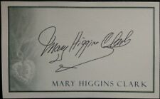 Mary Higgins Clark Autogramm original signiert 8x13cm BOOKPLATE