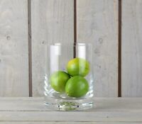 Handmade Hurricane Cylinder Clear Glass Vase Pot For Flowers Candles 25 cm x ...