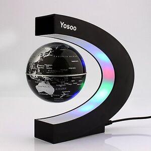 Globo del Mundo Levitando Mapamundi Magnetico Luz LED Decoracion Hogar Despacho