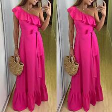 Eliza J Womens Pink Ruffled Off-the-Shoulder Party Flounce Dress 8 BHFO 3265