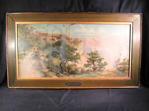 Antique Lewis Aiken 1906 Grand Canyon EL Tovar Hotel Framed Print