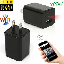 Mini 1080P WIFI HD Hidden Spy Camera Plug Wall Charger Video Recorder Nanny Cam