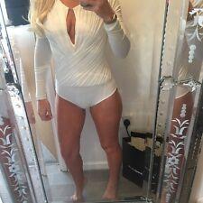 Aqaq Aqua By Aqua All In One Bodycon Bodysuit 8 Sexy Top Long Sleeved