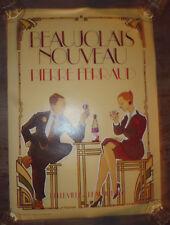 ancien affiche Beaujolais Nouveau Ferraud 69 dessin JF Routier style Art Deco