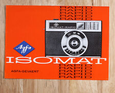 AGFA ISOMAT-RAPID SALES BROCHURE D.23-637/10973/24 N/cks/199890