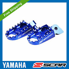 FOOTPEGS STD YAMAHA YZ 85 125 YZ-F YZF 250 450 WRF BLUE FOOT PEGS REST SCAR