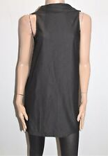 SHOWPO (RUMOR) Designer Black Collar Sleeveless Tunic Dress Size 8 BNWT #SX21