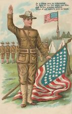 Postcard Soldier Spanish American War Patriotic  ASB 283 ca 1900s Unposted